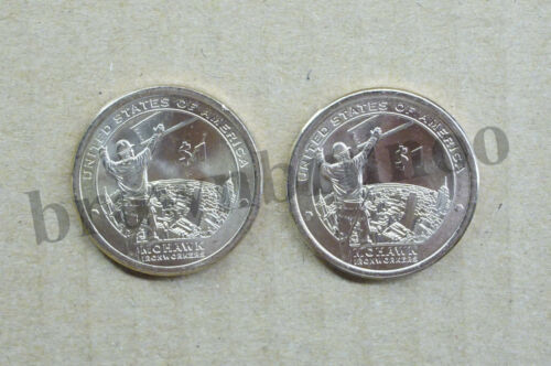 2015 P&D Native American Dollar Sacagawea Uncirculated Mohawk IronWorker 2 Coins