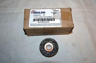 Weiler 2 Crimped Wire Wheel .014 Wire 12-38 Arbor 15473 Qty Of 10 Wheels