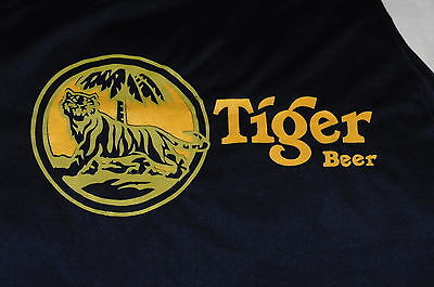 """Tiger Beer"" Sleeveless T-Shirt Thai Beer Great Tiger Image(L)"