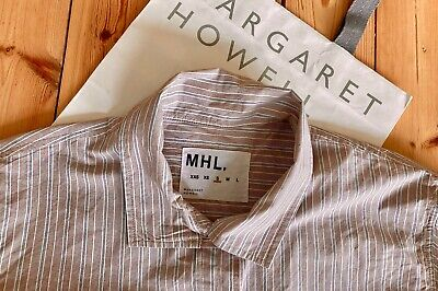 MARGARET HOWELL Striped Cotton Swing Shirt - Size S