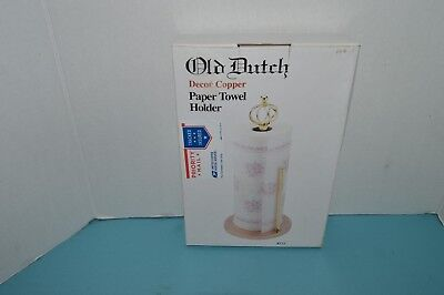 Old Dutch Paper Towel Holder Stand Copper & Brass Home Kitchen Countertop Decor