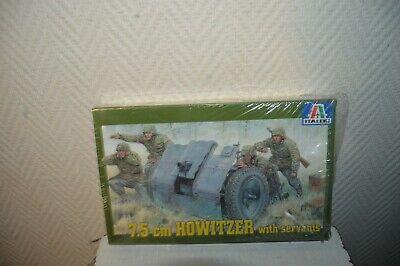 Model Italeri 3in Howitzer with Servants 1/35 Soldier Sealer N°6400