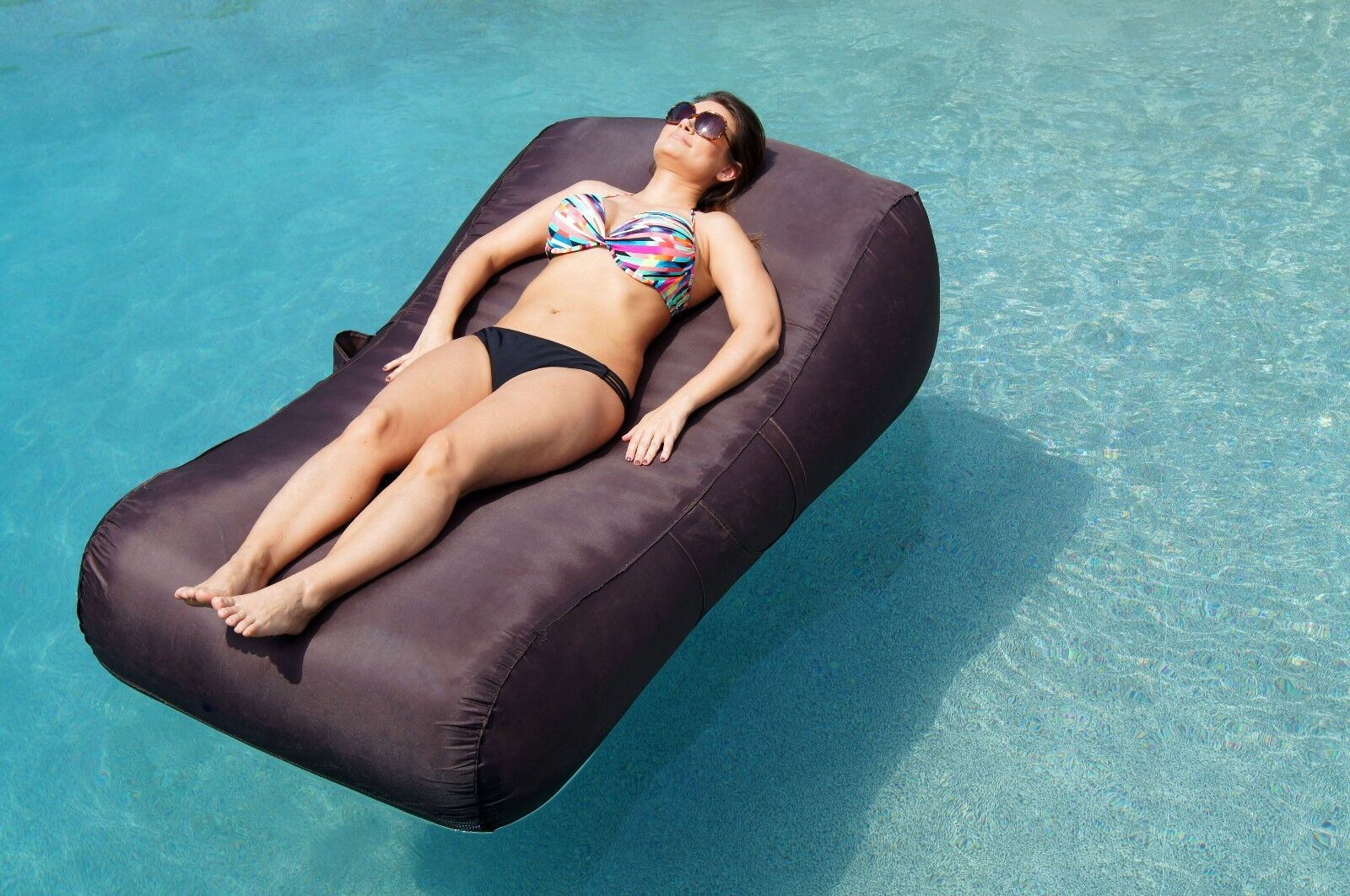 Aquadolce Pool Lounge – Deluxe Oversized Pool Float Chaise TURQUOISE OR ESPRESSO Inflatable Floats & Tubes