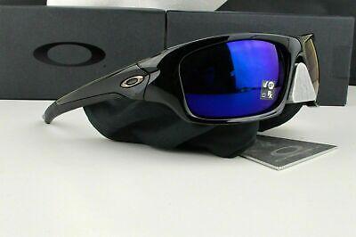 OO9236-12 Mens Oakley Valve Sunglasses - Polished Black Deep Blue Polarized