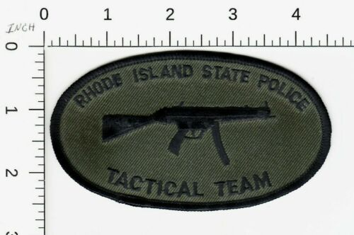 RHODE ISLAND STATE POLICE TACTICAL TEAM SUBDUED PATCH RI