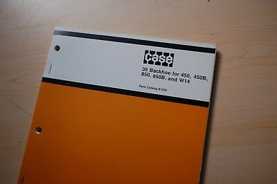 Case 450 850 450b 850b W14 Crawler Tractor 35 Backhoe Parts Manual Book Catalog