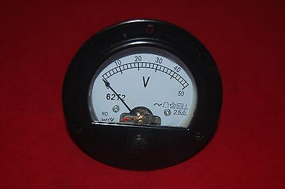 Ac 0-50v Round Analog Voltmeter Voltage Panel Meter Dia. 90mm Directly Connect