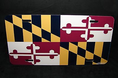 MARYLAND STATE FLAG METAL NOVELTY LICENSE PLATE TAG FOR (State Metal License Plate)
