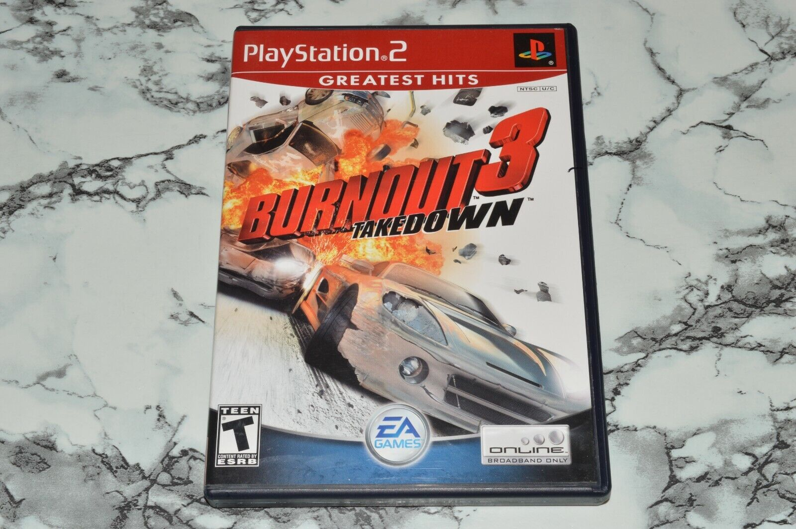 Burnout 3 Three - Takedown - Greatest Hits Sony PlayStation 2 -- W/ Manual - $12.68
