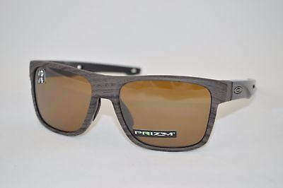 Oakley Crossrange POLARIZED Sunglasses OO9361-0757 Woodgrain W/ PRIZM Tungsten (Oakley Woodgrain)