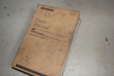 Cat Caterpillar 988 Front End Wheel Loader Parts Manual Book Catalog Spare List