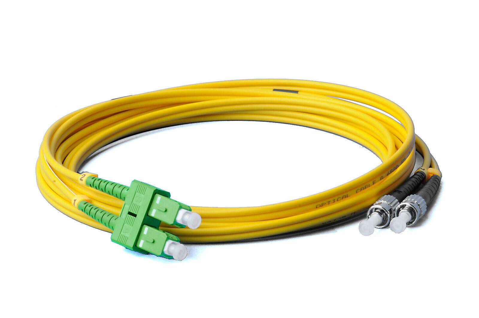 Lichtwellenleiter 15 Meter LC auf LC Stecker LWL Glasfaser-Kabel 15m OS2 gelb Duplex 9//125 Patchkabel