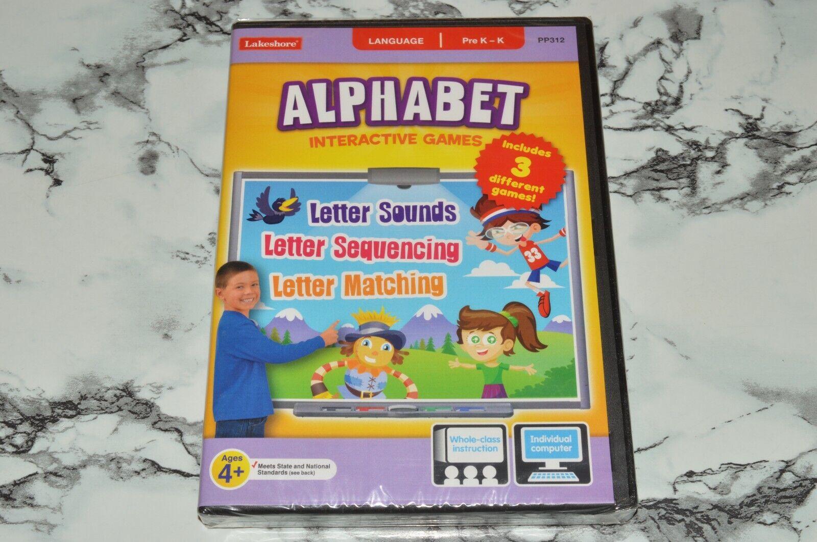 NEW - Lakeshore - Alphabet Interactive Games - Language PC / MAC CD-ROM  - $12.68