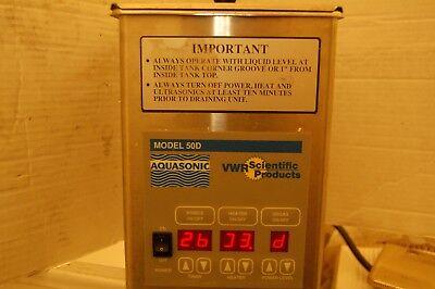 Vwr Scientific Aquasonic Water Bath 50d 50 D Digital Dental Ss Sonic Ultrasonic