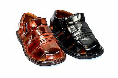 Closed Toe Fisherman Sandal - New Fisherman Casual Sports Men Closed Toe Sandals Black or Brown-61
