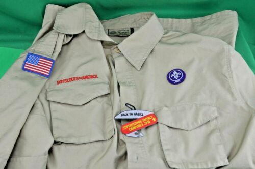 Boy Scout BSA UNIFORM SHIRT With Patches Mens Lrg Short Sleeve Arizona. Slot 4