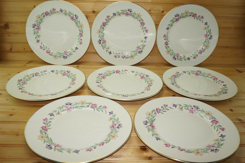 "Pickard Garland (8) Dinner Plates, 10 5/8""  (Box #2)"