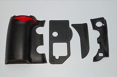NIKON D700 4 PIECE FRONT/REAR/ GRIP RUBBER SET NEW REPAIR PARTS+ Tape