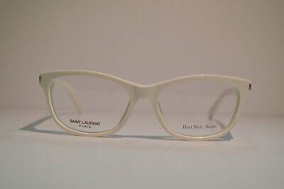 New Authentic Women's Yves Saint Laurent White Eyeglasses: SL 12 FMZ