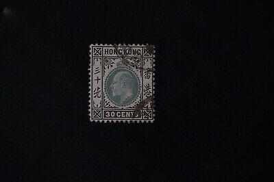 Hong Kong #79 1903 30c F/VF used 2017 cv$24.00 (k499)