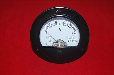 Dc 0-100v Analog Voltmeter Voltage Panel Meter Dia. 90mm Dh62 Direct Connect
