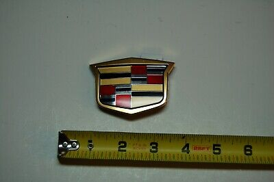 03-09 GOLD Cadillac Front Grill Crest Emblem Badge CTS SRX STS 25765149 GOLD #1