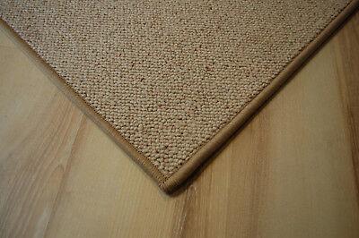 Schurwolle Teppich umkettelt beige 200 x 300 cm 100% Wolle gekettelt