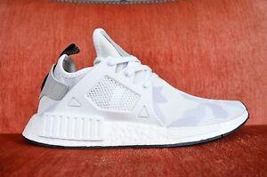 Adidas-Originals-Running-NMD-XR1-Primeknit-BA7233-White-Camo-Bape-Size-8-12-Men