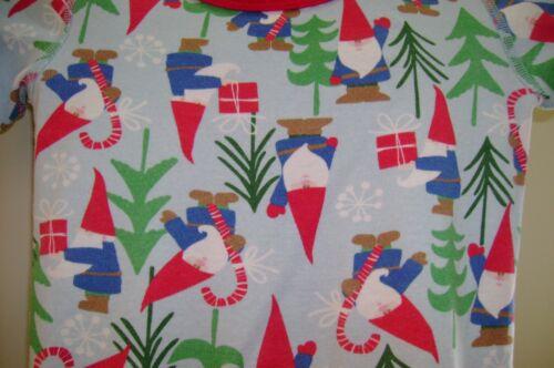 HANNA ANDERSSON light blue SANTA GNOMES organic cotton PAJAMA SET-110   5 US