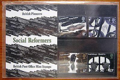 1976 British Pioneers Social Reformers Decimal Mint Stamps Presentation Pack 79