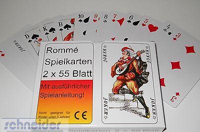 Romme Karten 2x 55 Blatt
