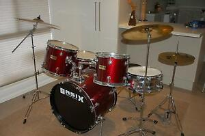 BASIX Drum Kit (5 piece) Strathdale Bendigo City Preview