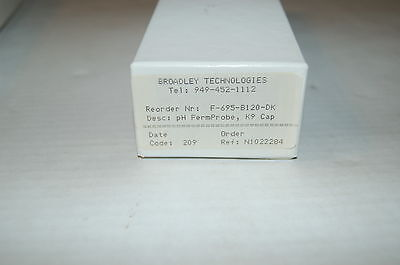 New Broadley-james Fermprobe Ph Electrode F-695-b120-dk K9 Cap Glass