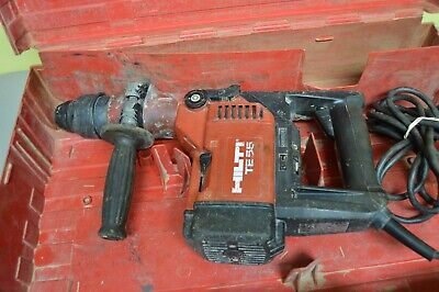 Hilti Te55 Rotary Hammer Drill With Plastic Case