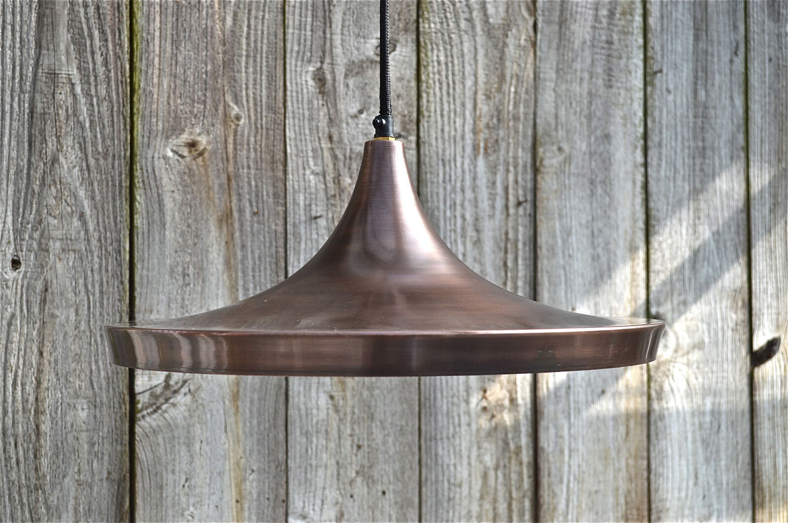 Large retro Danish design vintage copper hanging pendant light ceiling lamp LRD1
