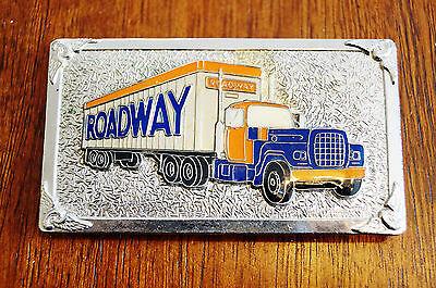Roadway Trucking Lines Belt Buckle Antique Hook Fast Rare
