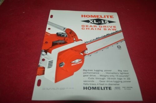 Homelite XL -15 Chain Saw Dealer