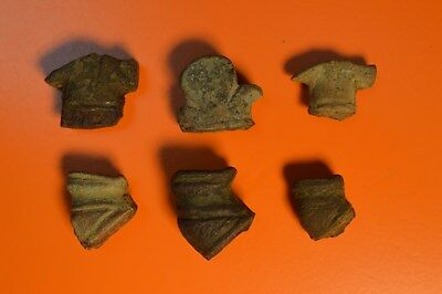 6 Medieval Copper Alloy Dagger/Knife Pommels - Various Designs - UK Found