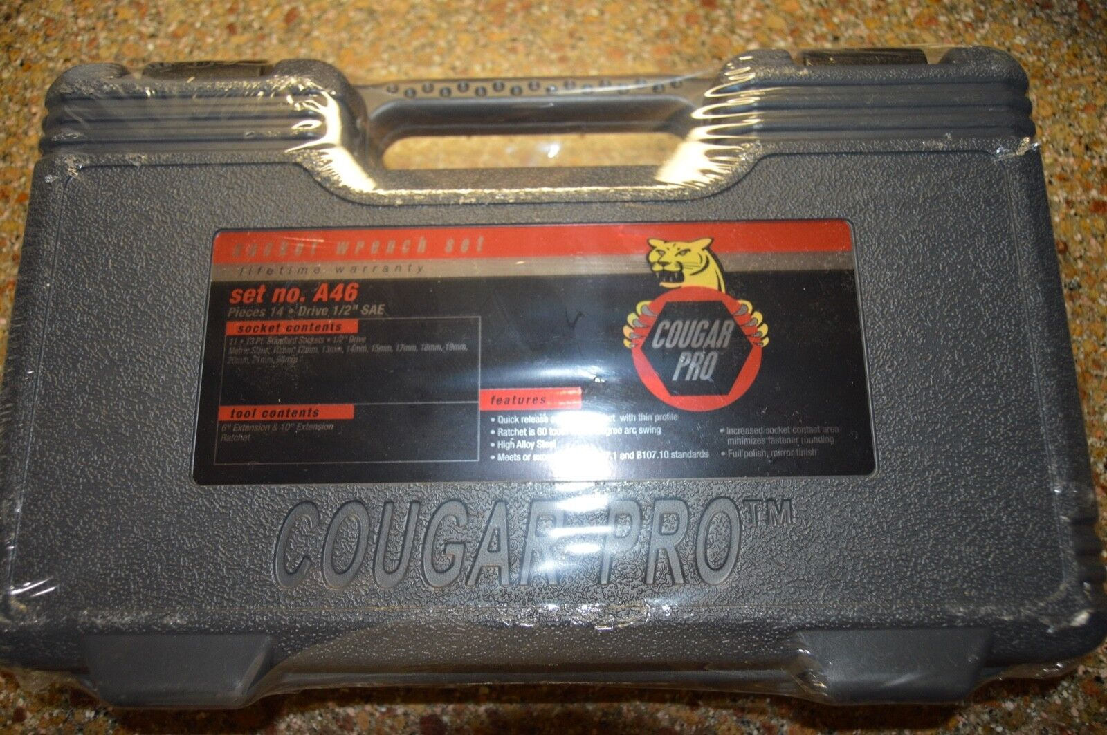 Wright Tool Cougar A46 10 to 24 Millimeter Metric Socket Set