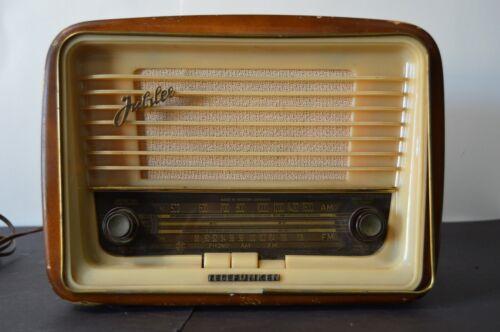Vintage Telefunken Jubilee Tube Radio West Germany Works MCM Home Decor 50