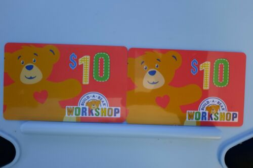 BUILD-A-BEAR Workshop - Gift Card - $20 Value - 2 x $10 Cards - Email Delivery