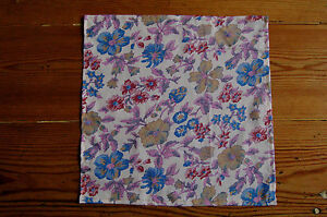 Handmade Liberty Fabric Pocket Square Handkerchief Gift Huge Variety of Designs