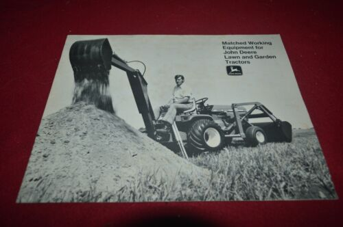 John Deere Matched Working Equipment Lawn & Garden Tractor 1975 Brochure FCCA