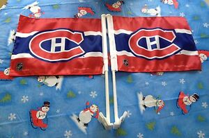 Two Montreal Canadiens Car Flags like new!