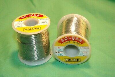 2 X 1lb Roll 6040 Tin Lead 2.2 Rosin Core Flux 1mm Solder Free Shipping