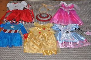 Girls Dress Up Costumes x 5  Age 5-6 (Disney and others) Bilgola Pittwater Area Preview