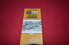 30 HYDRAULIC MANURE LOADER  1951 DEALER SALES  BROCHURE JOHN DEERE NO
