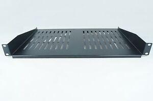 RACKMOUNT SHELF 1U FOR 19 INCH RACK - BLACK 300mm DEEP cantilever modem SHELF