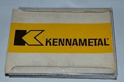 Lot Of 5 Kennametal Carbide Inserts Tpg 431 K6 220404