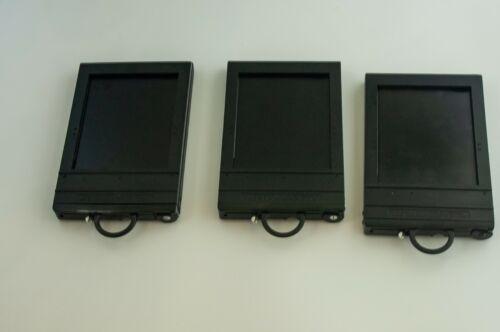 Lot 3 Graflex 45 Grafmatic 4x5 Large Format Sheet Film Holders w/ 6 Septums